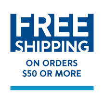 Free shipping on orders $50 or more.