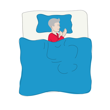 Sleeping positions for back pain relief: On your side in the fetal position