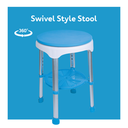 Shower seats with swivel/sliding features