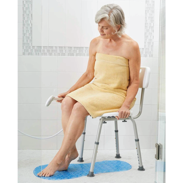 Carex adjustable bath and shower seat with handles