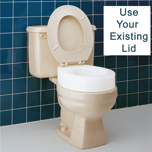 Elderly toilet seat riser for standard toilets
