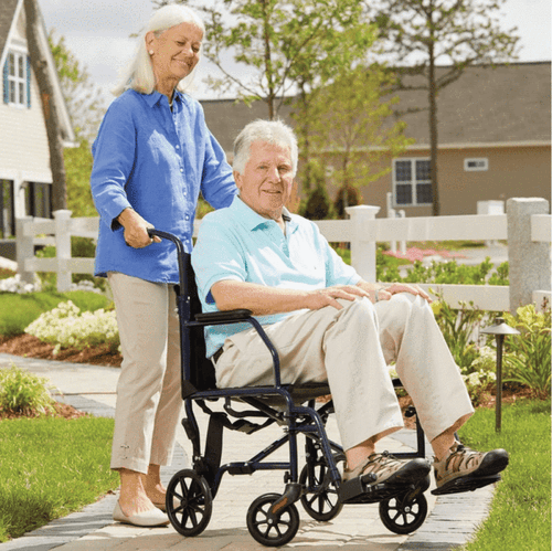 Easy to push transport chair