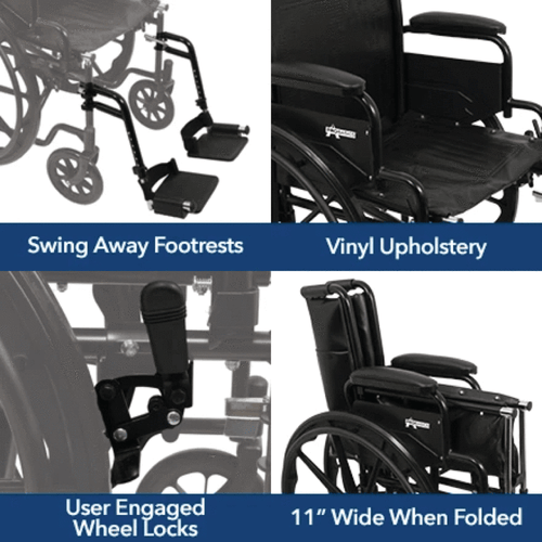 Wheelchair with swing away footrests