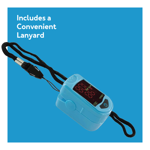 Pulse oximeter with lanyard