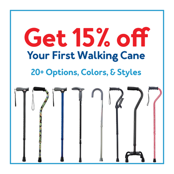 Get 15% off your first walking cane