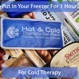 Put in your freezer for one hour for cold therapy