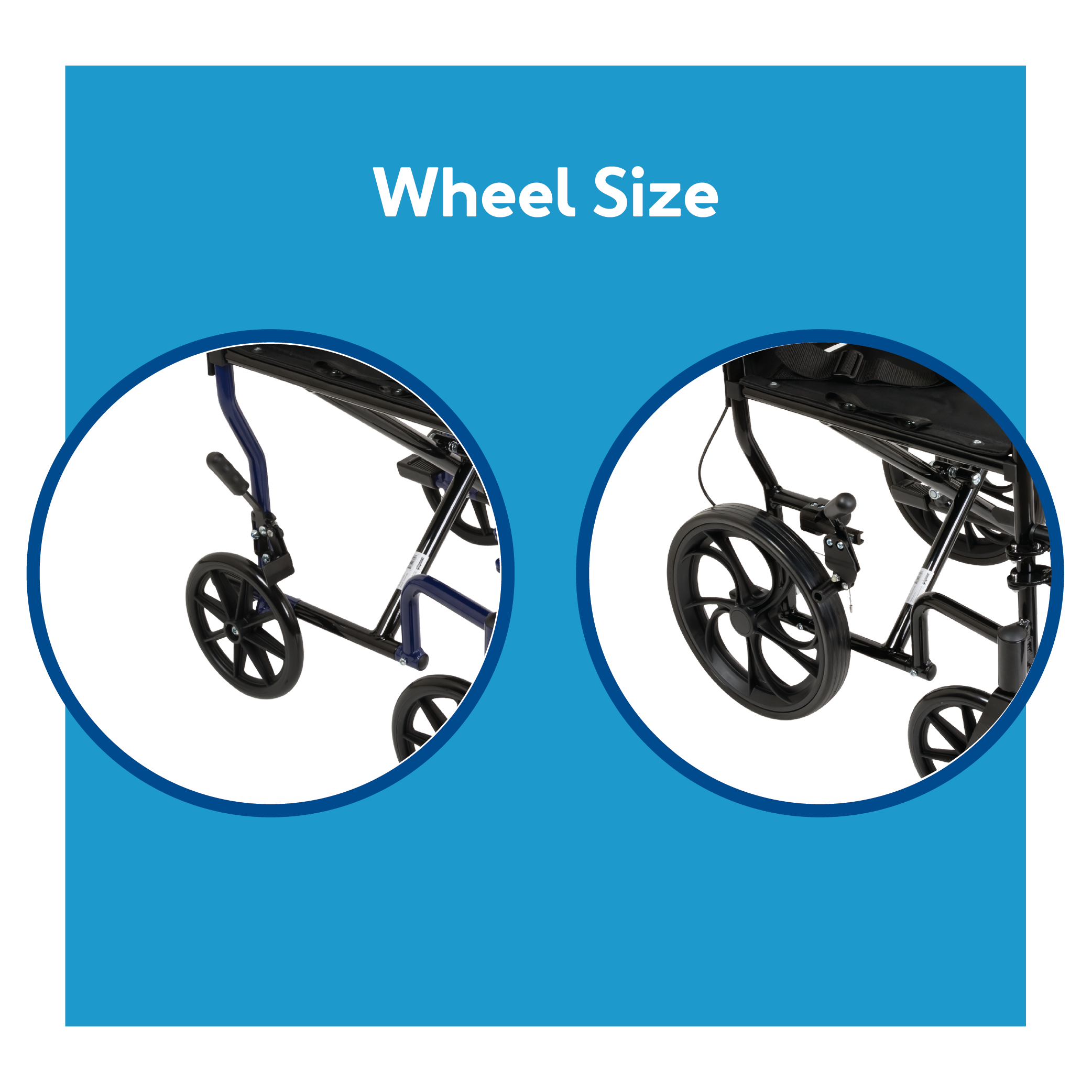 Transport Chair Wheel Size