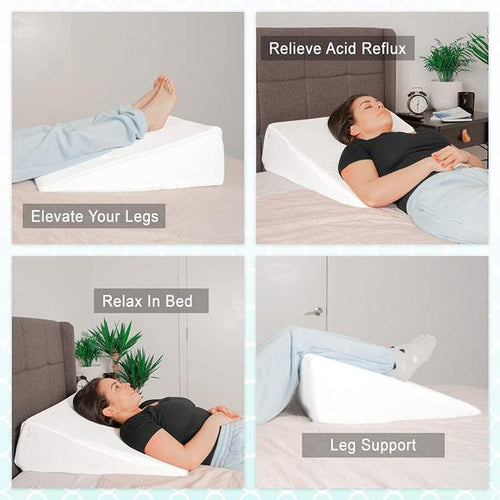 Universal bed wedge pillow