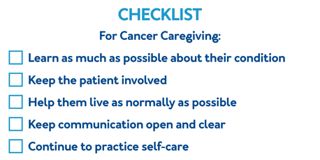 Five tips for caregivers of cancer patients