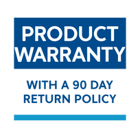 Product warranty with a 90 day return policy