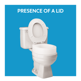 Presence of a toilet lid