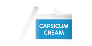 Capsicum cream, which causes a sensation of heat over the affected area.