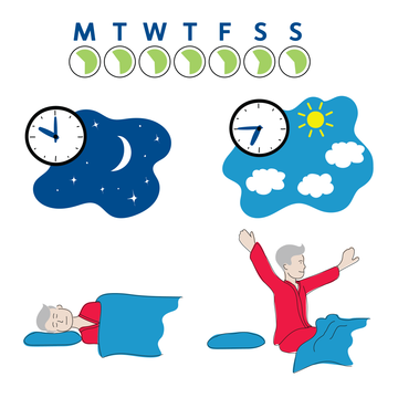 Sleep tip: Keep bed time and wake time consistent