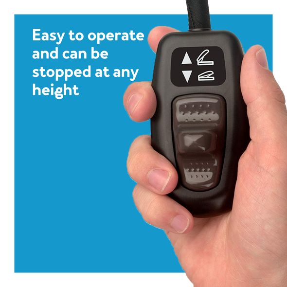 Easy to operate and can be stopped at any height