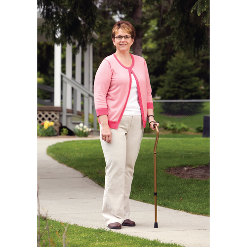 Walking cane with cushioned grip