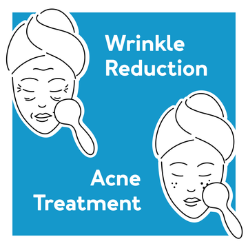 Red light therapy for wrinkle reduction and acne treatment