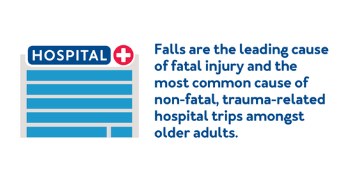 Falls are the leading cause of death and the most common cause of nonfatal trauma-related hospital trips amongst older adults.