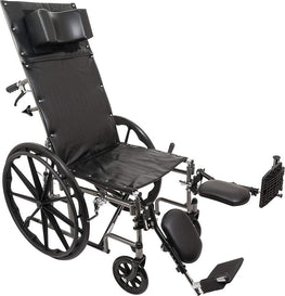 PROBASICS RECLINING WHEELCHAIR WITH REMOVABLE ARMS AND ELEVATING LEGRESTS