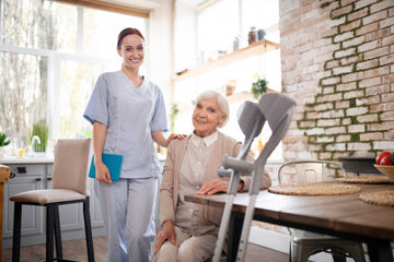 Professional caregivers can be less personal and make elderly persons more comfortable