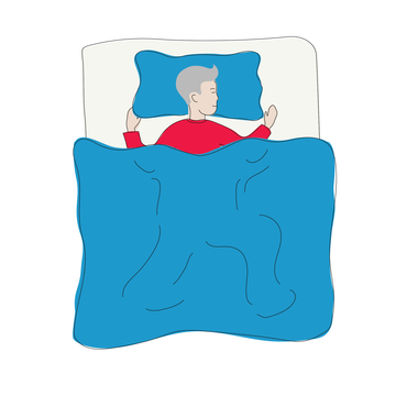 Sleeping positions for back pain relief: On your stomach with a pillow under your abdomen