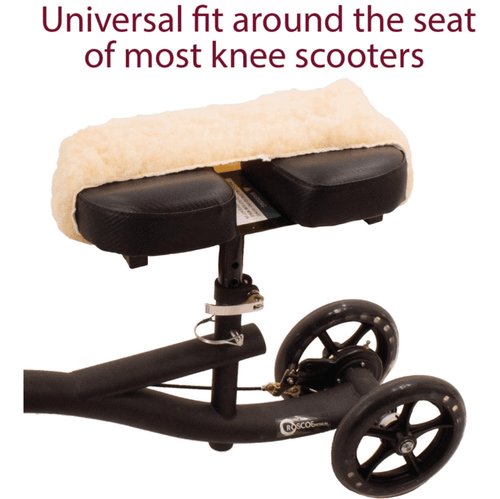 Universal knee scooter pad fits around most knee scooters