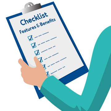 Checklist of features and benefits