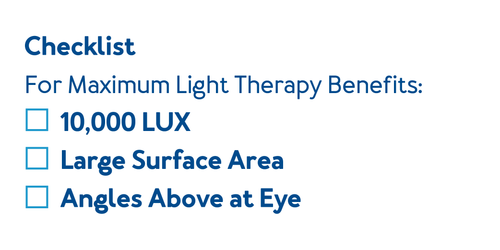 Checklist for selecting a SAD Lamp for maximum light therapy benefits
