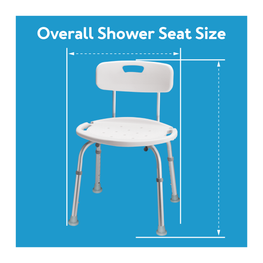 Overall Shower Seat Size