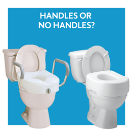 Raised toilet seat with handles or without handsles
