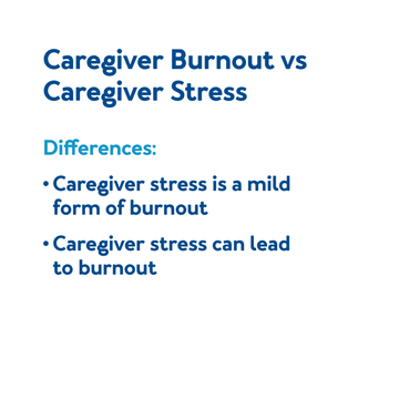 Caregiver Burnout vs Caregiver Stress