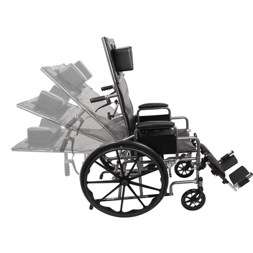 Reclining Wheelchair with Elevating Leg Rests