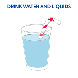 Drink water and fluids