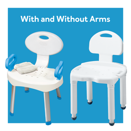 Shower seat with arms vs no arms