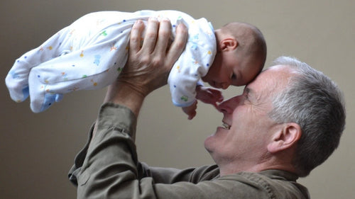 Grandparent with baby