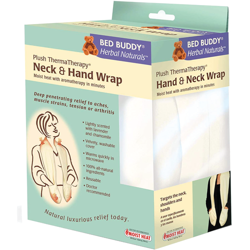 Plush thermatherapy neck and hand wrap