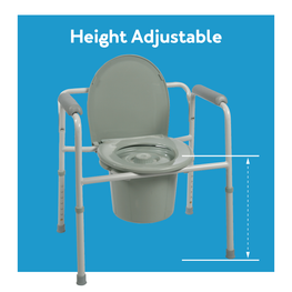 Height Adjustable Commode