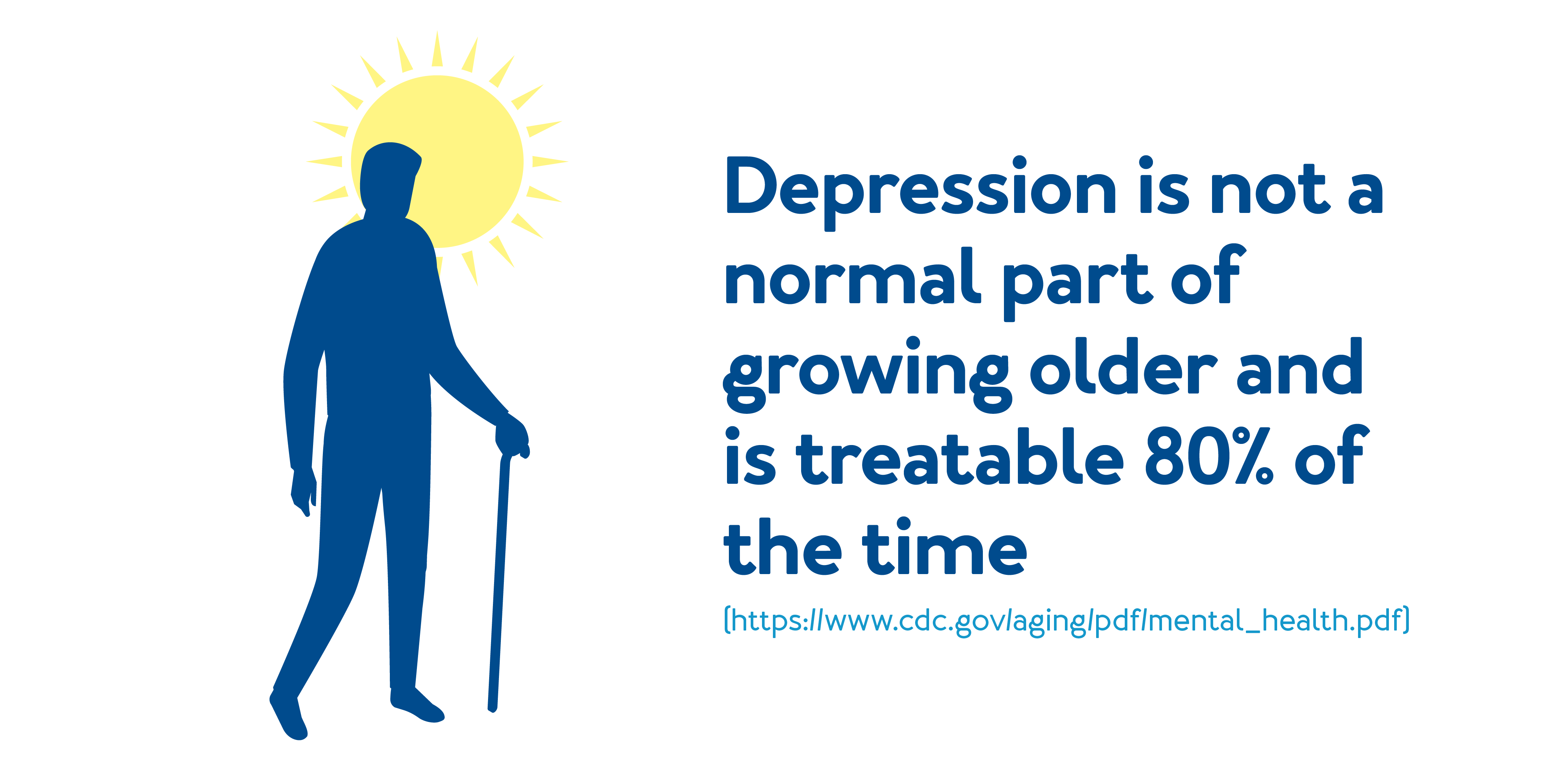 Depression is not a normal part of growing older and is treatable 80% of the time.