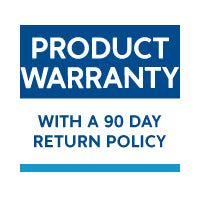All of our products are covered by our warranty with a 90 day return policy. If you're not happy, we'll make it right.