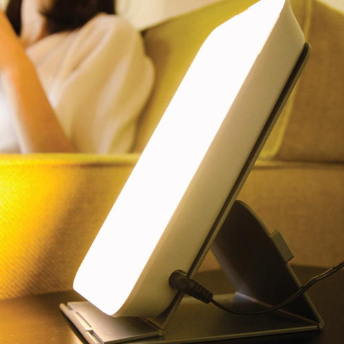 Compact light therapy lamp