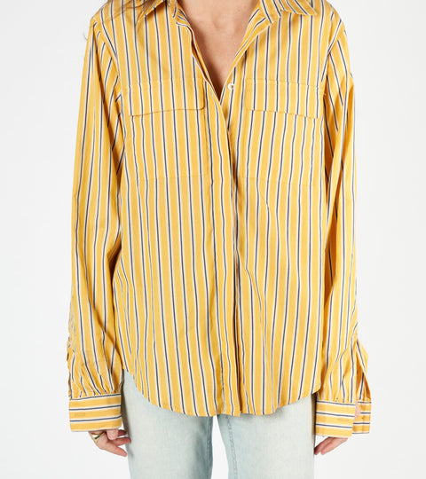 matin yellow stripe shirt