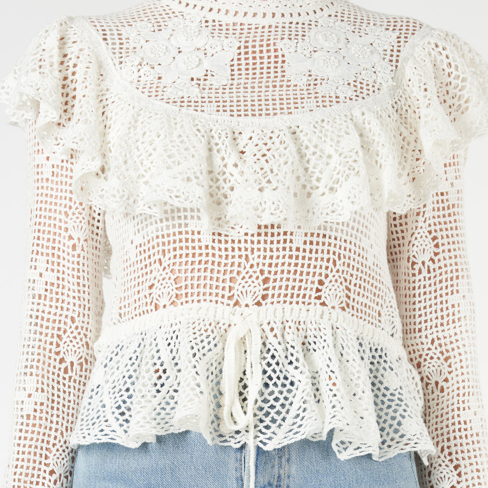 Castile Crochet Cotton Top