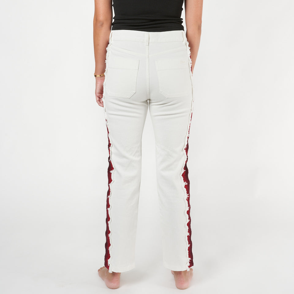 Cropped Embroidered Jeans
