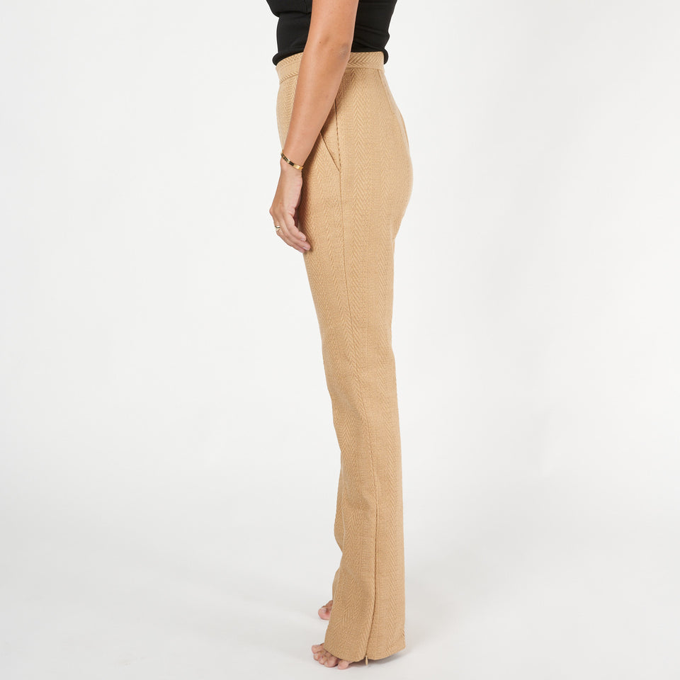 Straw Knit Pants