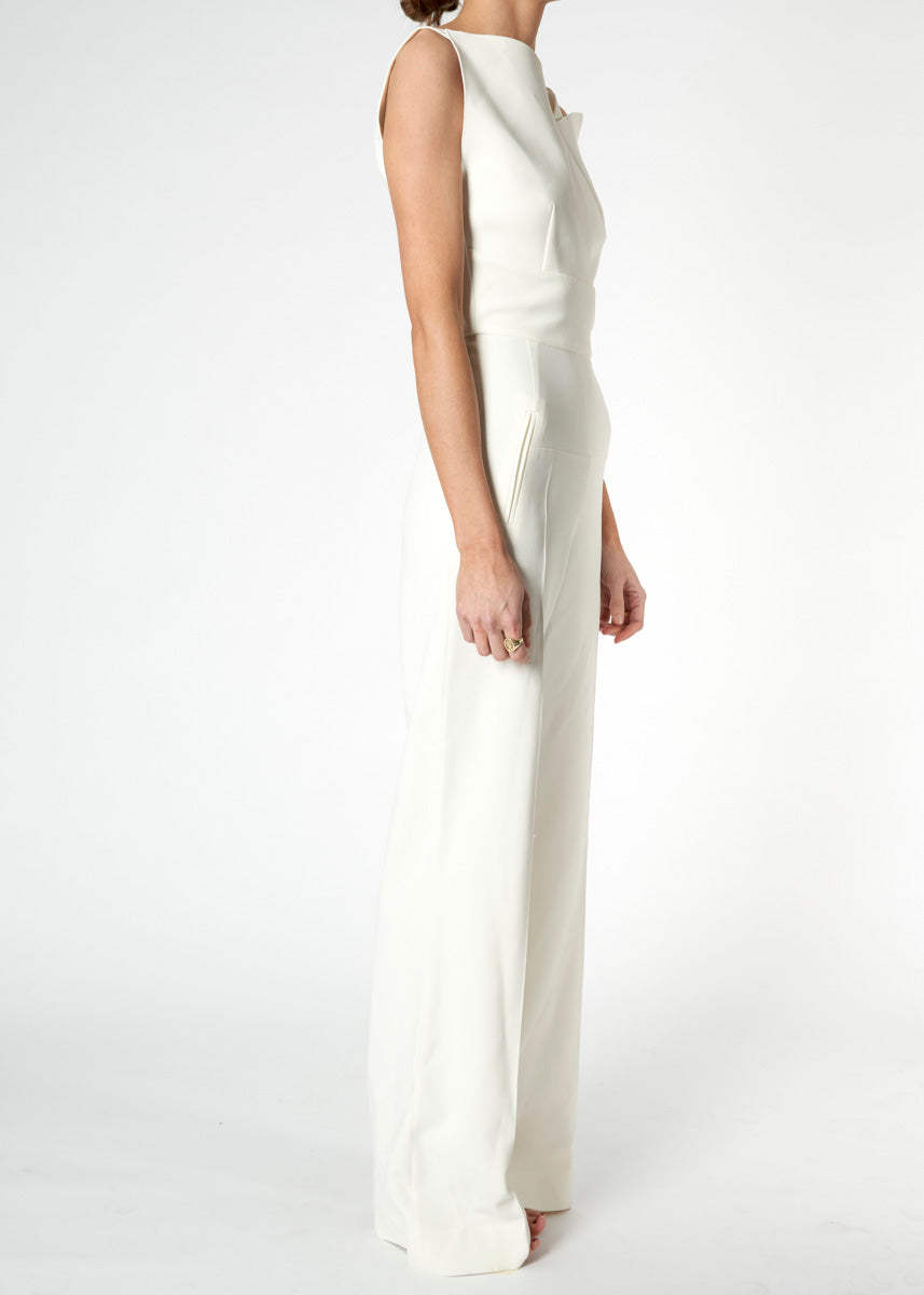 Colston Stretch-Crepe Jumpsuit