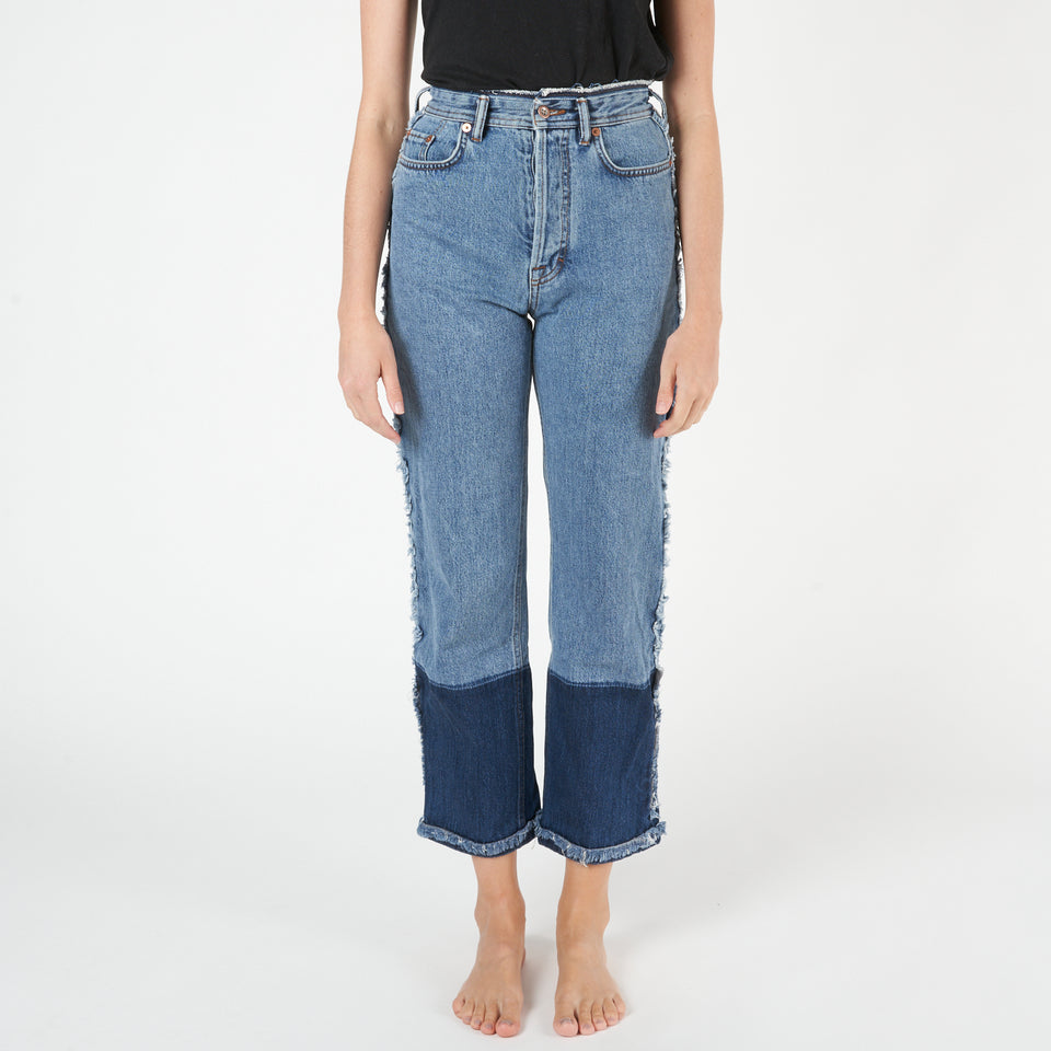 Myrja High-Rise Straight Jeans