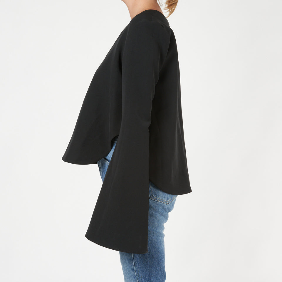 Humilis Bell Sleeved Crepe Top