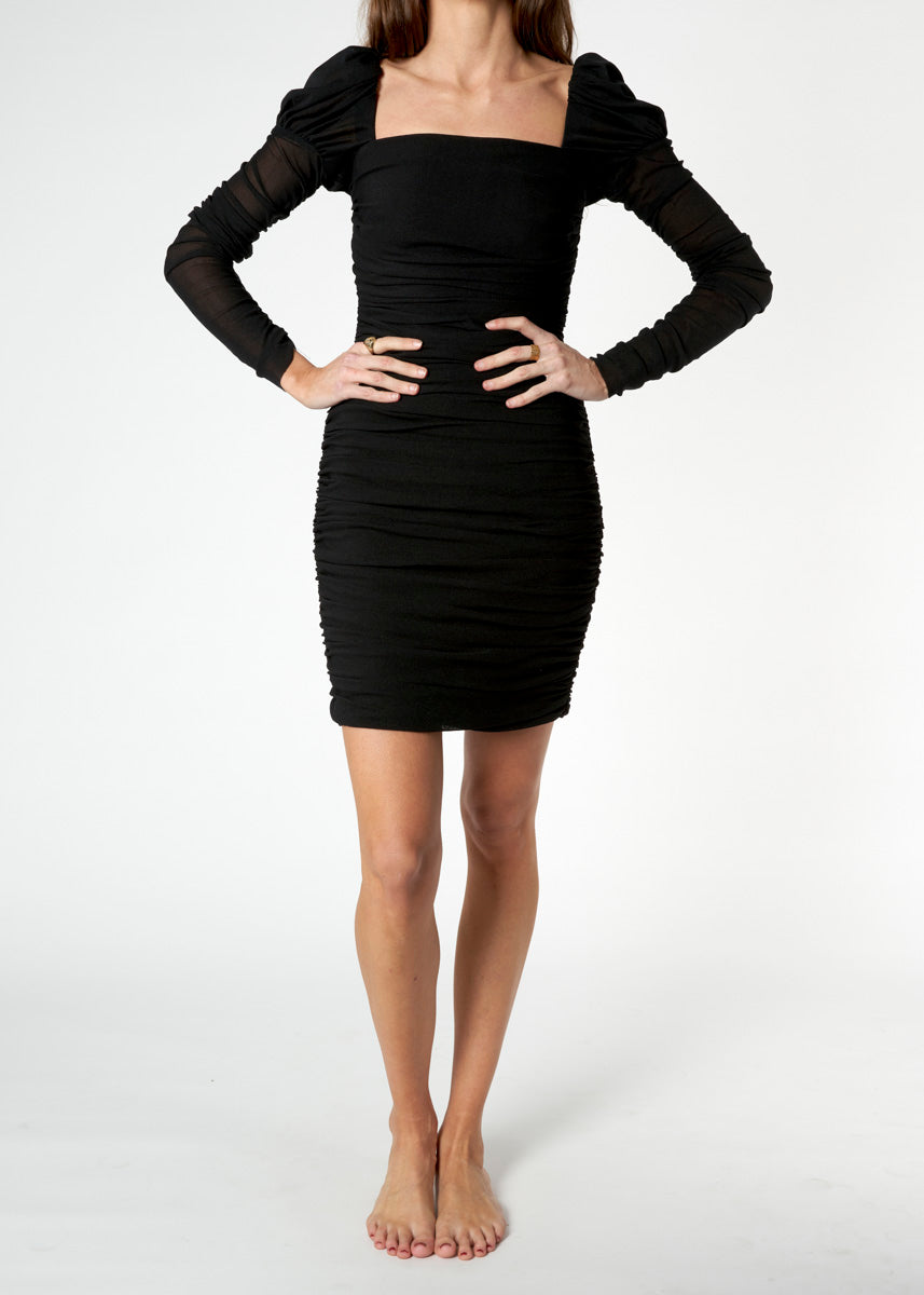 Frenchie Ruched Mini Dress