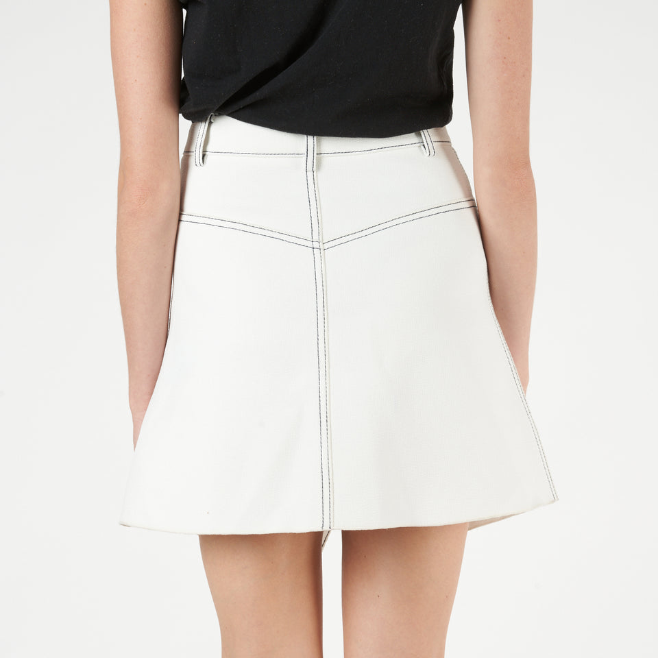 Shadow Stitch Mini Skirt