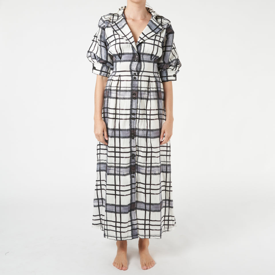 Theodora Checked Shirtdress