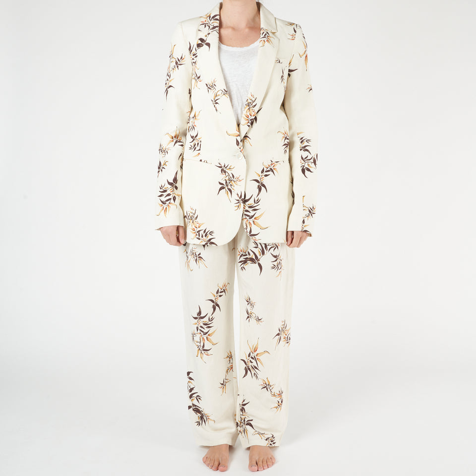 Madryn Bamboo Print Suit Jacket